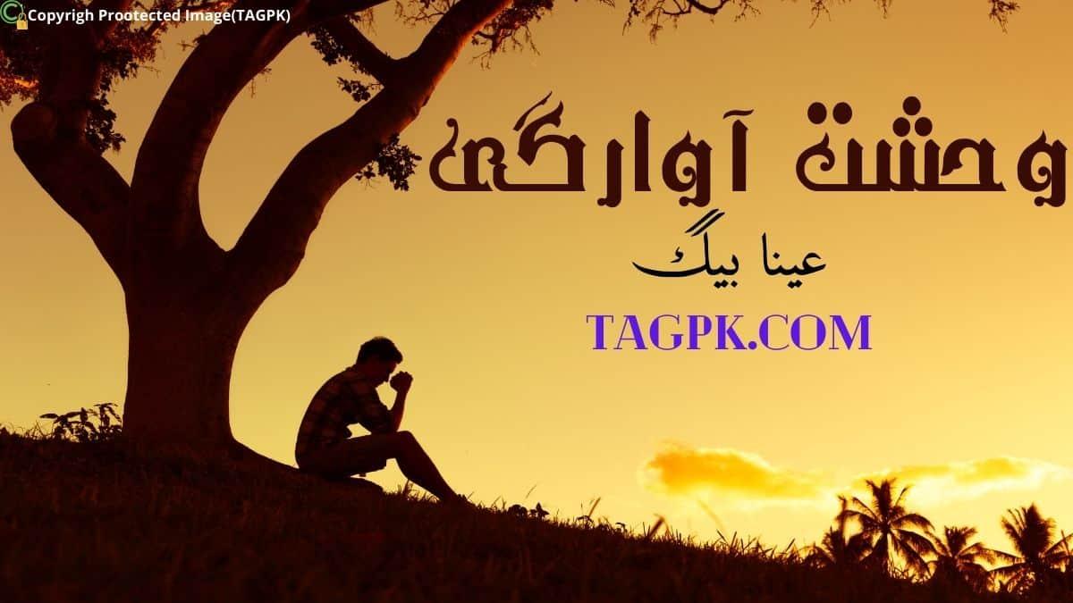 Wehshat E Awargi By Ayna Baig Complete Novel Free Download